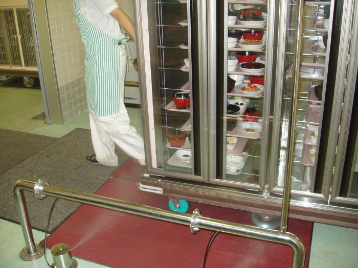 病院,厨房,カンファ水,足回り,噴霧,衛生,使用例